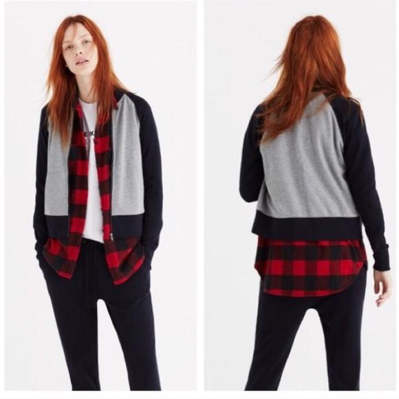 04345d8e5 [Madewell] Offline Sweatshirt Bomber Jacket